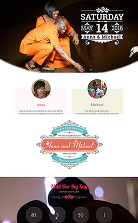Ametoedia Wedding website