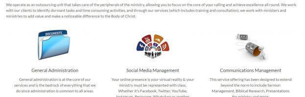 Minister's Desk Website